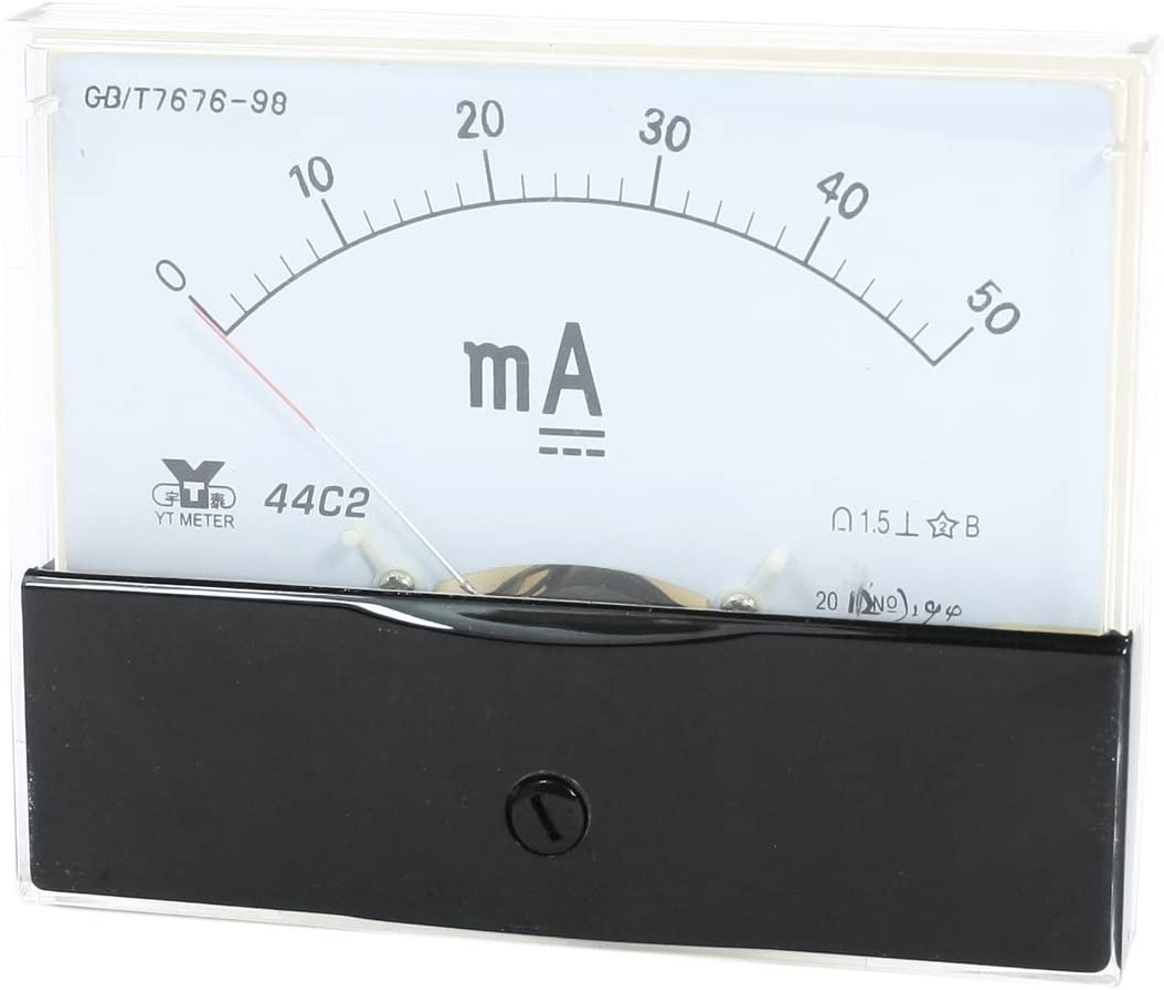 uxcell/® Analog Panel Ammeter Gauge DC 0-50mA Measuring Range 44C2