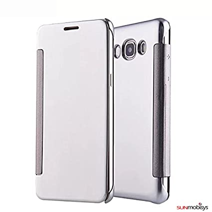 online retailer df193 b79b6 Sun Mobisy® Clear View Flip Cover for Samsung: Amazon.in: Electronics