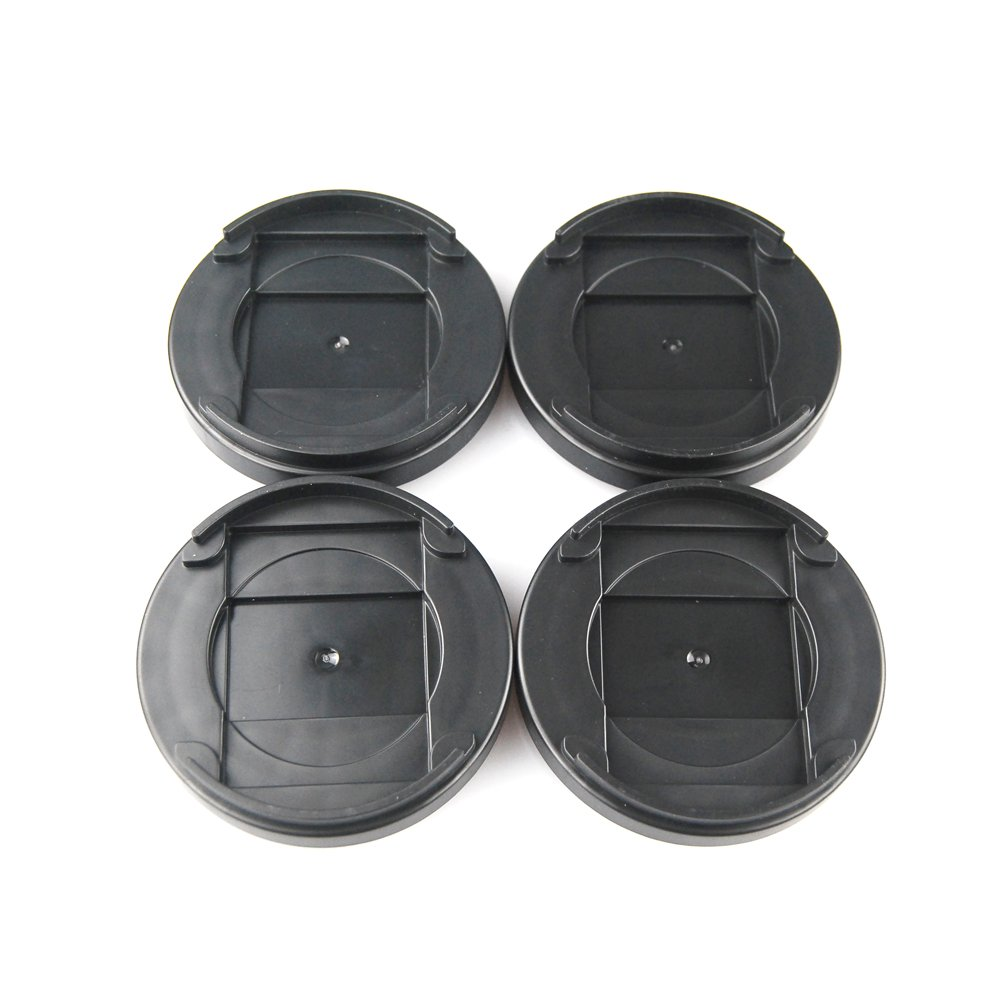 Aspeike Set of 4 Black Lifts for Bed Frame 1 Inch Round Anti-Slip Bed Risers, Furniture Risers or Table Risers or Chair Risers, Adds 1/2 inch Height to Furniture or Beds by Aspeike (Image #1)