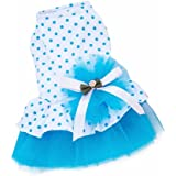 Pink Bow Small Pet Dog Clothes Dress Pink (XS)