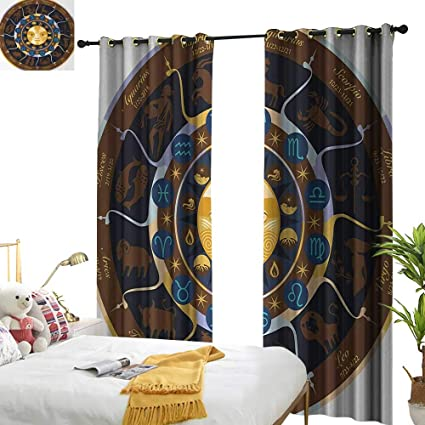 Amazon.com: Anyangeight Astrology,Blackout Draperies for ...