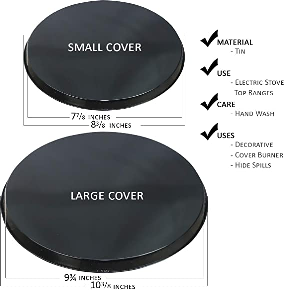"""10/"""" 8/"""" and 2 2 Hill TOP ROSTER  Electric Stove Top Burner Covers Set of 4"""