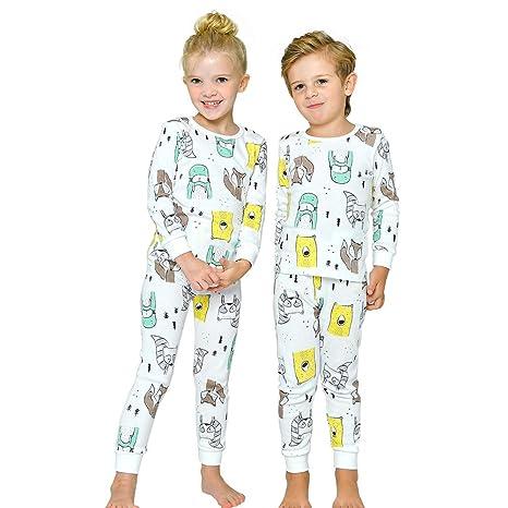 f662b5797 Tory bam Cotton Thermal Underwear Pajamas Set for Kids Little Boys ...