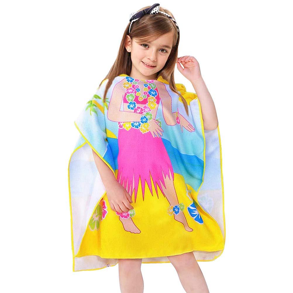 Cartone Animato Accappatoio Asciugamano ad Asciugatura Rapida Bambino in Microfibra Bagno con Asciugamano con Cappuccio APERIL Asciugamano Poncho da Bambino per Spiaggia