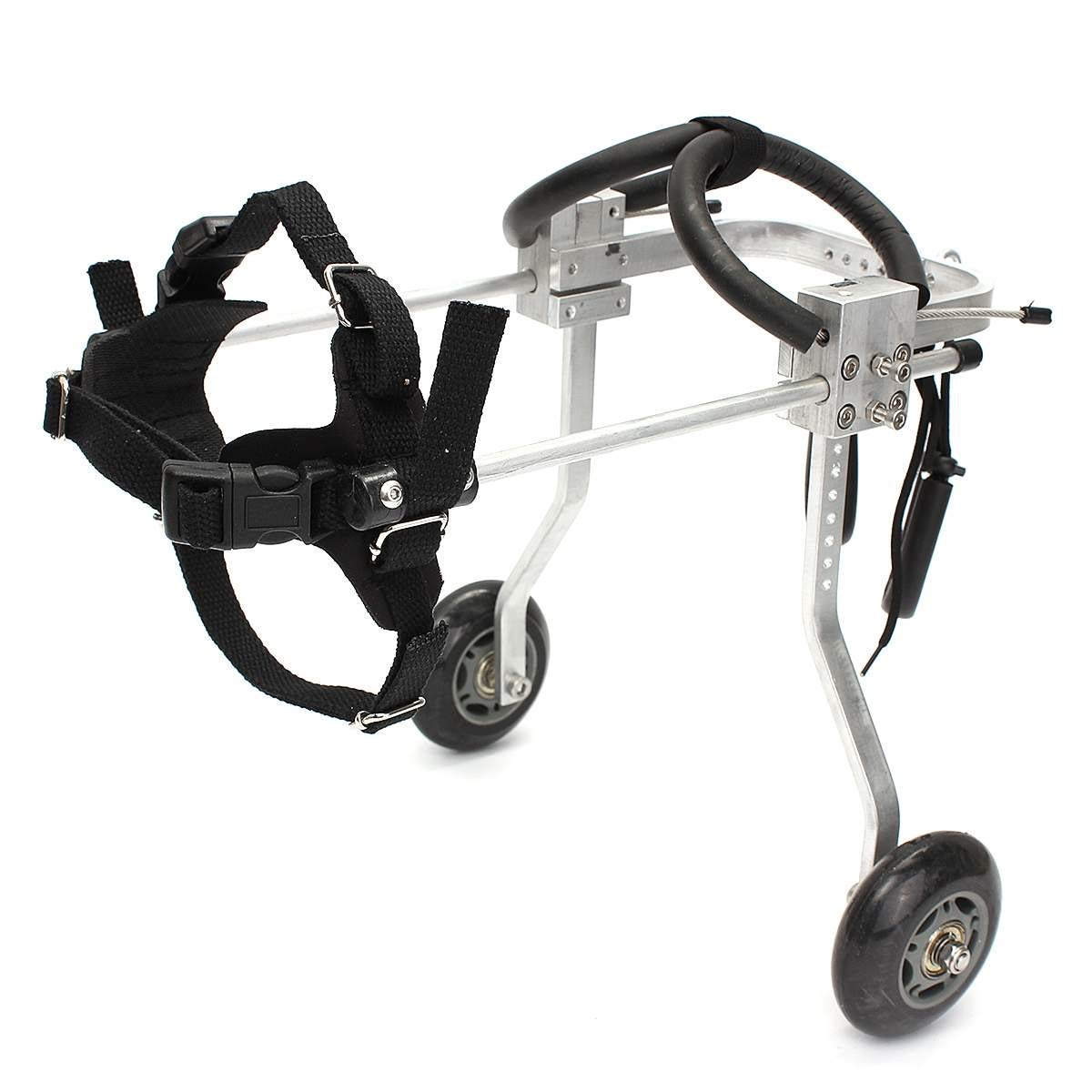 DUANJY Pet Wheelchair Professional Pet Dog Wheelchair, Handicapped Paralyzed Pet Wheelchair for Disabled Cat Dog Rehabilitation,2 round XXS Multiple
