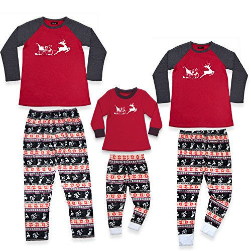 Zrck Family Matching Christmas Pajamas Matching Pjs Sleepwear Sets Suit For Men /Women/Kid (Family Pajamas Holiday)