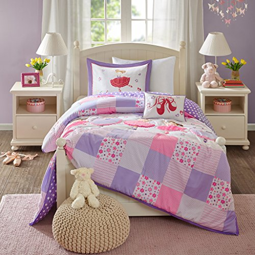 - Twirling Tutu Comforter Set Purple Twin