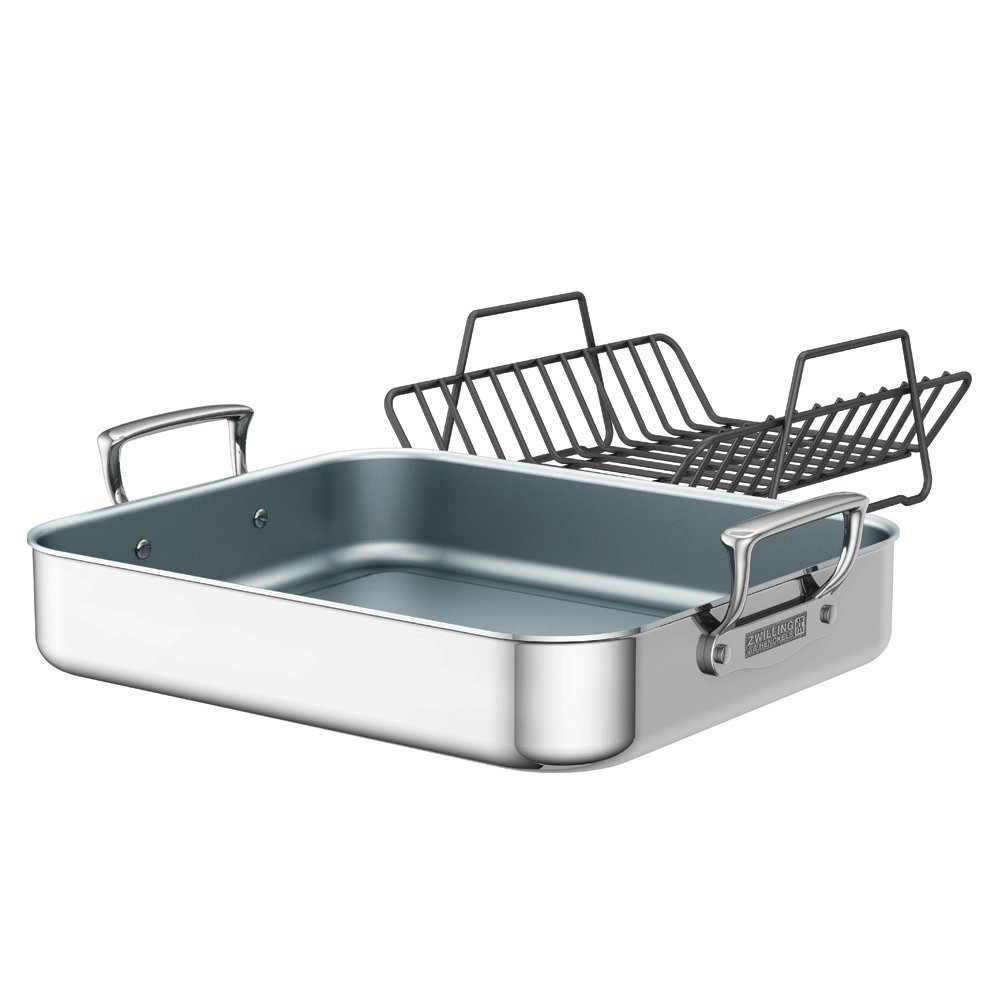 ZWILLING J.A. Henckels Polished Stainless Steel Ceramic Nonstick Roasting Pan