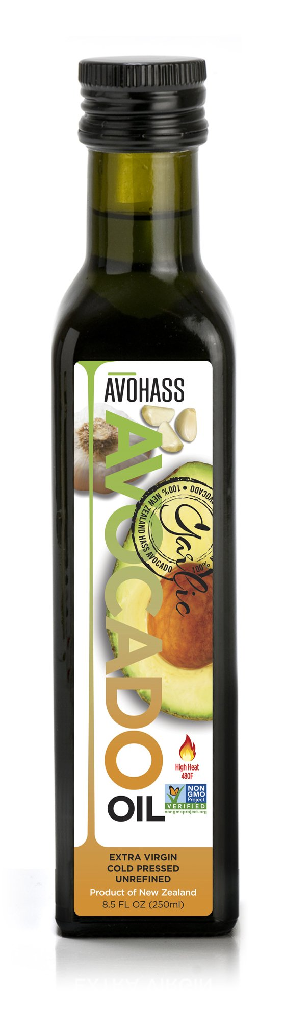 Avohass New Zealand Garlic Extra Virgin Avocado Oil 8.5 fl oz