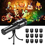 LED Christmas Lights Projector, Handheld Indoor Kids Projection Flashlight with 12 Patterns Light Show, Halloween Lights Decoration for Christmas, Easter, Carnival and Birthday Party