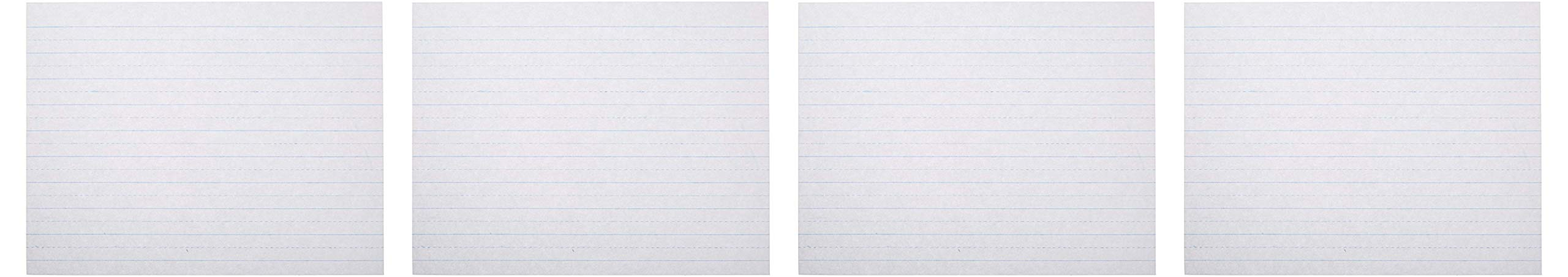School Smart 085439 Alternate Ruled Paper Without Margin, 10.5'' Length, 8'' Width, White (Ream of 500) (Fоur Paсk) by School Smart
