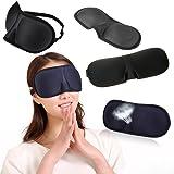 ZHUOTOP Travel 3D Eye Mask Sleep Soft Padded Shade Cover Rest Relax Sleeping Blindfold Black