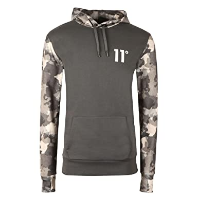 d08af2856d567 Eleven Degrees 11 Degrees 11D-982 Printed Pull Overhead Hoodie - Watercolour  Camo X-