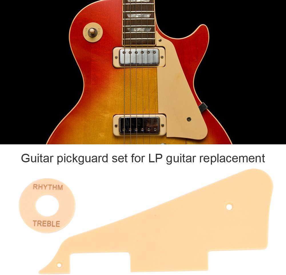 Dilwe Guitar Pickguard Set Guitar Pickguard Jack Scratch Back Plate /& Control Cavity Cover /& Switch Cavity Cover /& Pickguard Bracket /& Switch Ring for LP Jazz Guitar Parts