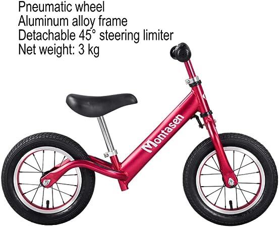 CHRISTMAD Balance Bike Peso Ultra Ligero 4.5 LB Niños Bicicleta Niños con Limitador De Dirección para 2~5 Años Bicicleta para Niños De 80-120 Cm,C: Amazon.es: Hogar