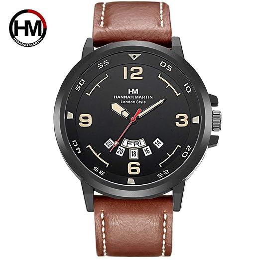 HM-1602 Hannah Martin Reloj de Hombre de Moda con función de Calendario Casual Deportes Reloj de Cuarzo Reloj de Pulsera: Amazon.es: Relojes