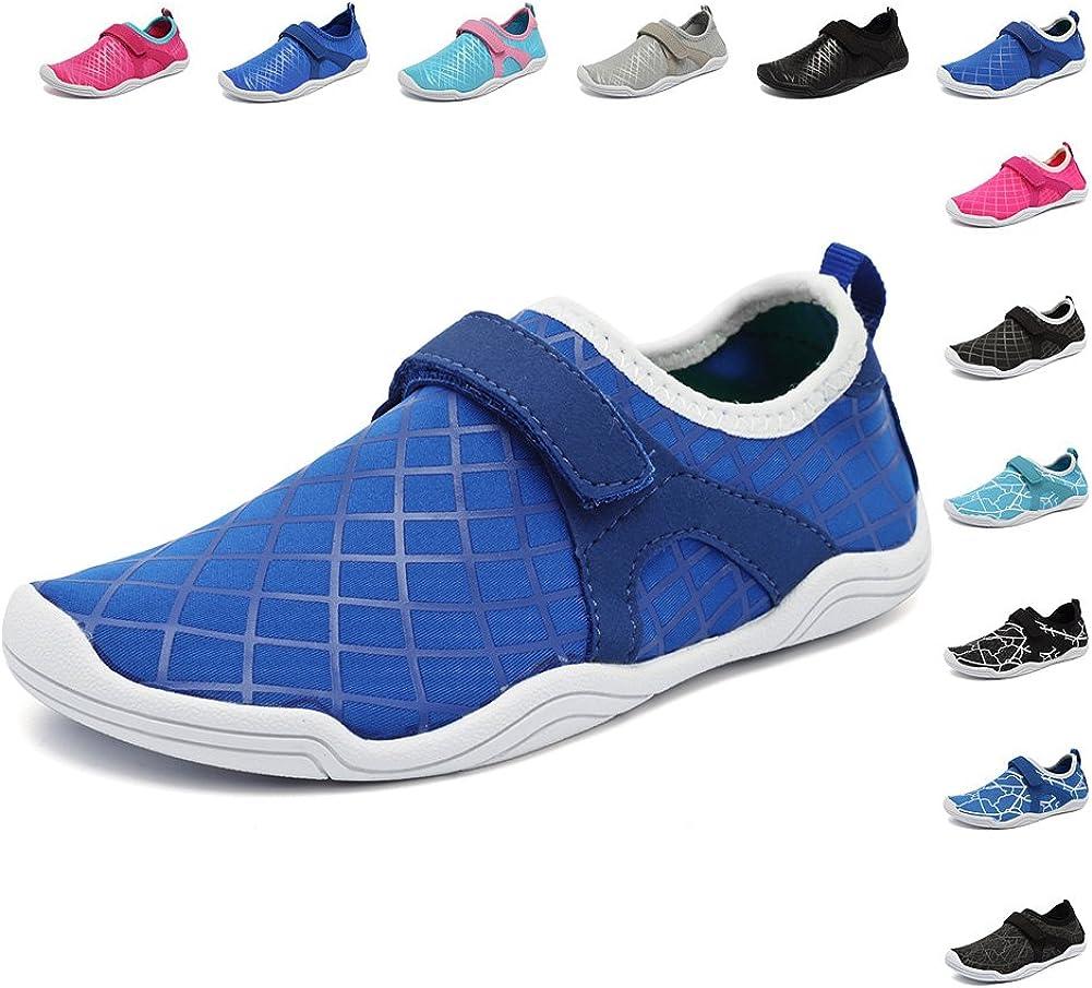 Toddler//Little Kid//Big Kid FANTURE Girls /& Boys Water Shoes Lightweight Comfort Sole Easy Walking Athletic Slip on Aqua Sock