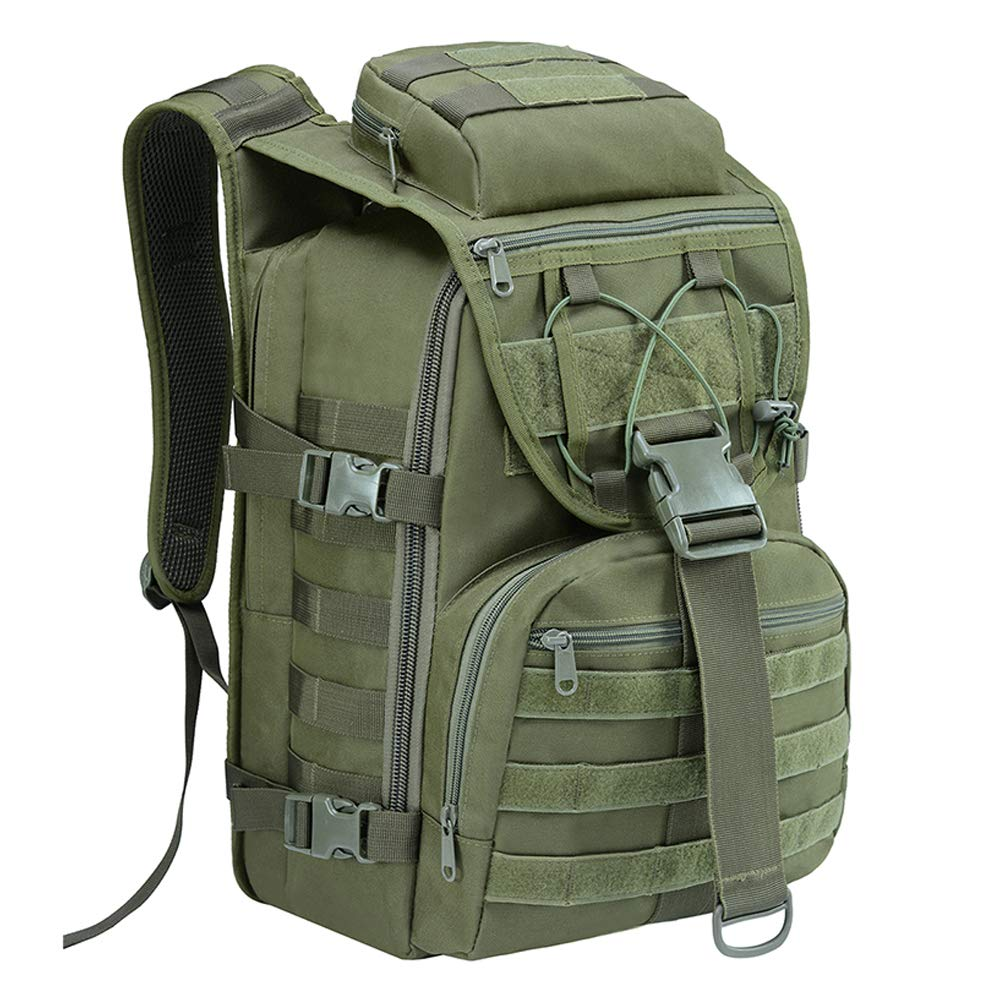 Military Tactical Backpack Large Army Assault Pack Molle Bug Out Bag Backpack With Cooler Compartment On Bottom