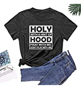 Women Funny Graphic Tops Workout T-Shirt Summer Short Sleeve Tops Loose Comfy Active Tees
