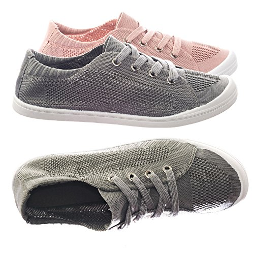 Rubber Sole Soft Comfortable Canvas Crochet Woven Elastic Flat Sneaker
