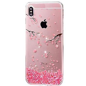 coque iphone x rose fleur