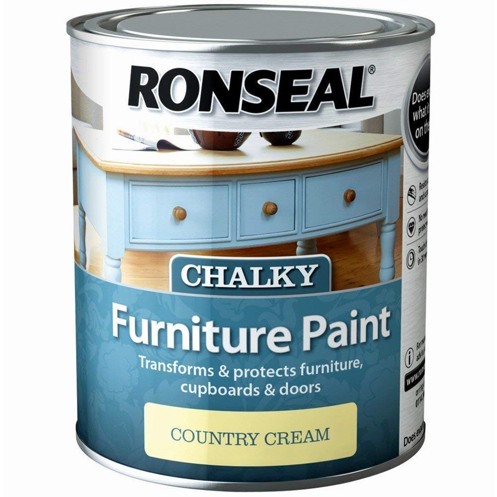 Ronseal RSLCFPCC750 750 ml Chalky Furniture Paint - Country Cream by Ronseal