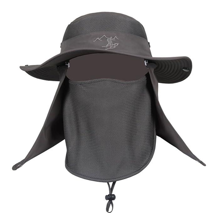 Gorra de pesca de verano Sombreros de protección de rayos UV al aire libre  verano Sombrero para el sol Visera Gorra masculina y femenina Sombrero de  ... ec4d36c5592