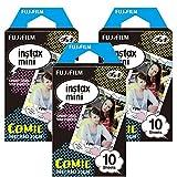 fujifilm instax mini film comic - Fujifilm Instax Comic Instant Film 3 Pack For Mini 8 Cameras 30 Sheets