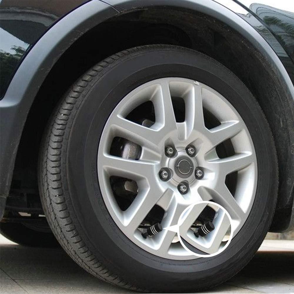 Fahrrad SENZEAL 2-in-1-Reifen-Aufpumpen mit 5 Ventilkappen f/ür Reifen und Nocken f/ür Auto LKW Motorrad