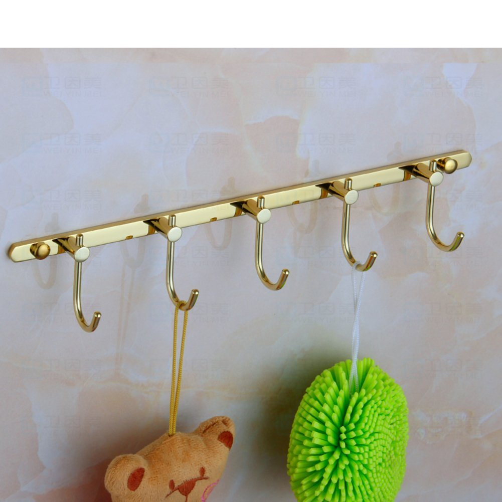 DACHUI Blues & porcelain communities know gold-plated coat hooks single hooks in stainless steel of the aluminum space