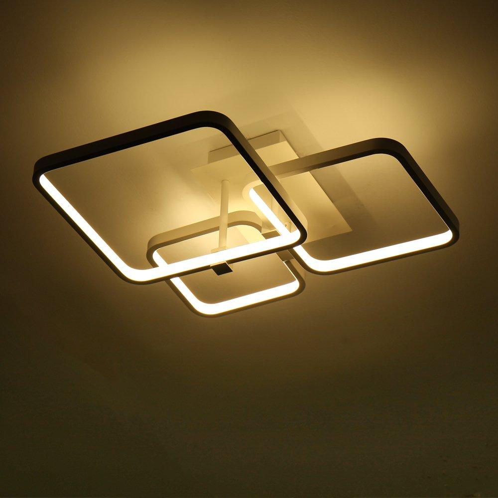 Deckenleuchte Wohnzimmer Design Das Beste Von Led: 52Watt LED Deckenleuchte Geometrie Design, Modern Licht