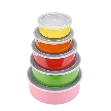 kxn 5 piezas colorido anidadas Juego de bol para mezclar (de ...