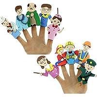 TWISHA Eva Finger Puppet Men (Multicolour)