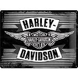 Harley Davidson Wings Logo Large Embossed Metal Sign 16'' x 12'' (Nostalgic Art 23189)