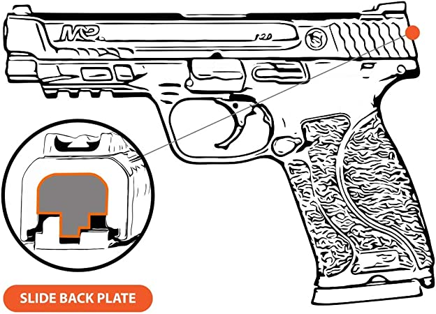 Details about  /Pirate Skull Engraved Pistol Rear Slide Cover Plate for S/&W /& M/&P Shield Model