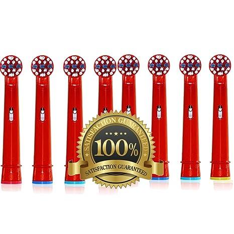 Dr Kao® Paquete de 8 cabezales de cepillo de dientes para niños con cabezales de