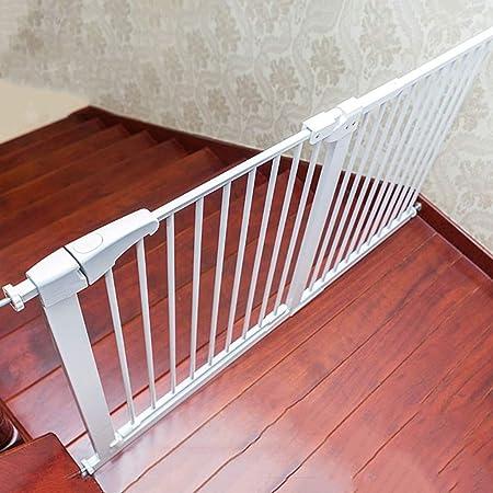 Puertas de bebé Puerta de seguridad for mascotas blanca for el pasillo de la escalera, puertas