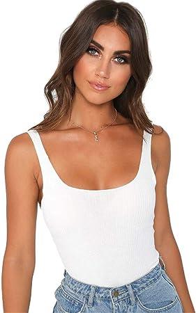Camisa sin mangas de las señoras, Mujeres sexy del verano de espalda abierta de algodón camisa