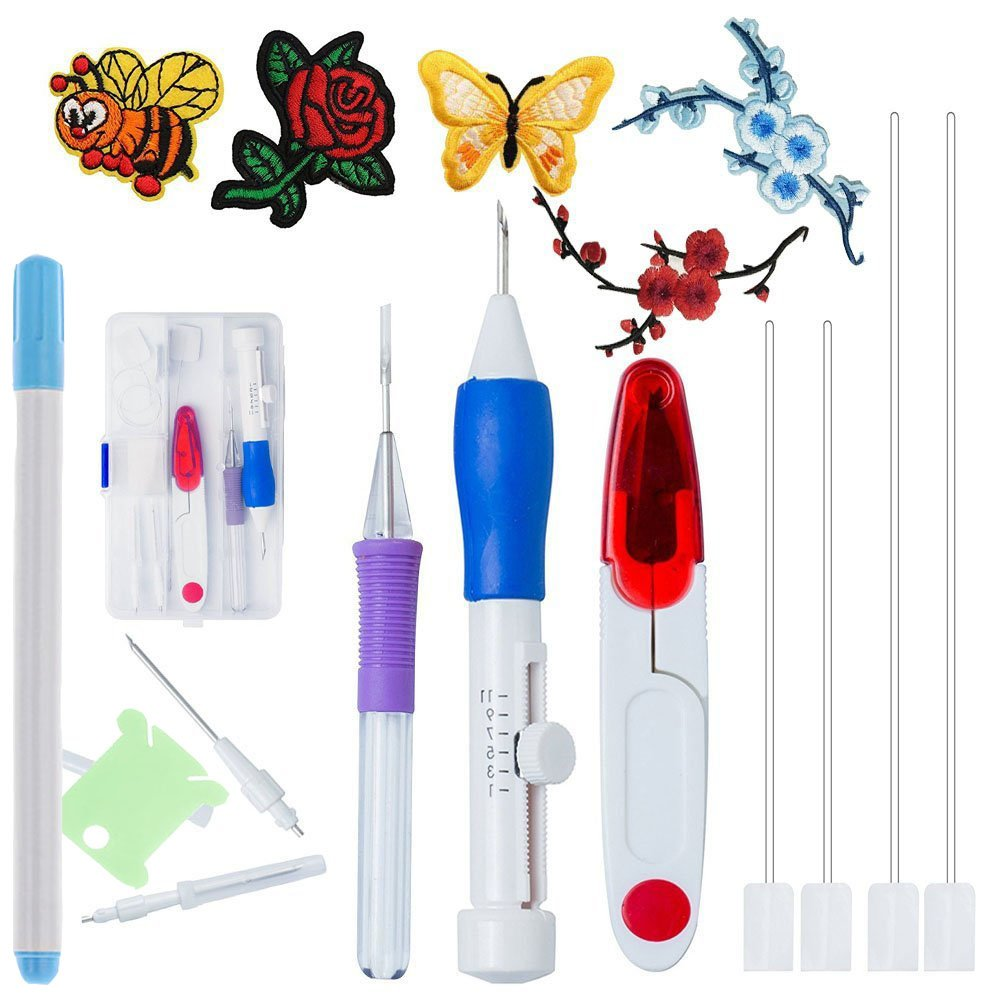 Full Range of Magic Embroidery Pen Punch Needle - Magic Embroidery Pen Set, Embroidery Patterns Punch Needle Kit Knitting Sewing Tool for DIY Threaders Sewing shelling home 4337012503