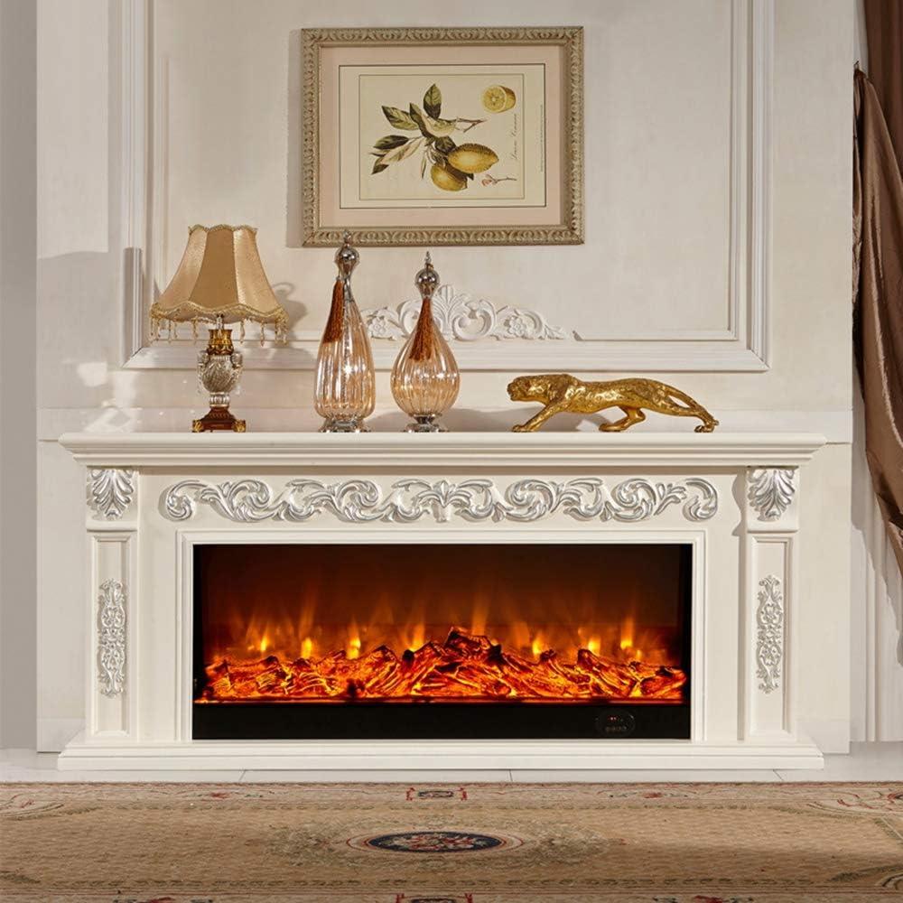 HWLG Soportes de TV para Chimenea, Moderno 3D Electric Fire ...