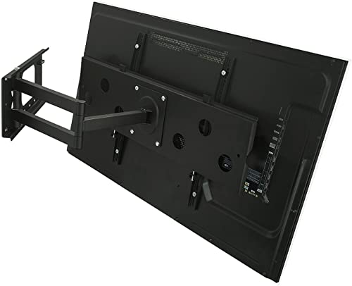 2xhome – Universal Full Motion Swivel Articulating Tilt Tilting Single Arm Extra Extended Extension Wall Mount Bracket for LED LCD Plasma TVs for 40 41 42 43 44 45 46 47 48 49 50 inches