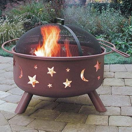 landmann-big-sky-steel-outdoor-patio-round-fire-pit-with-cover-stars-moons