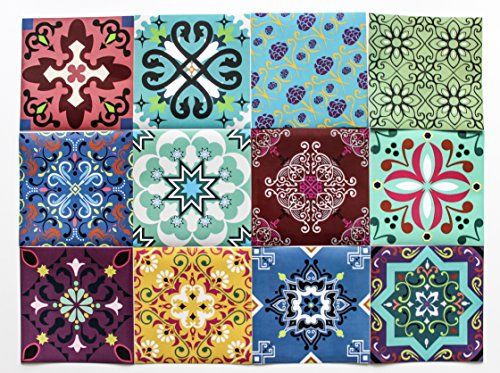 bruselas decorative tile stickers set 12 units 6x6 inches peel