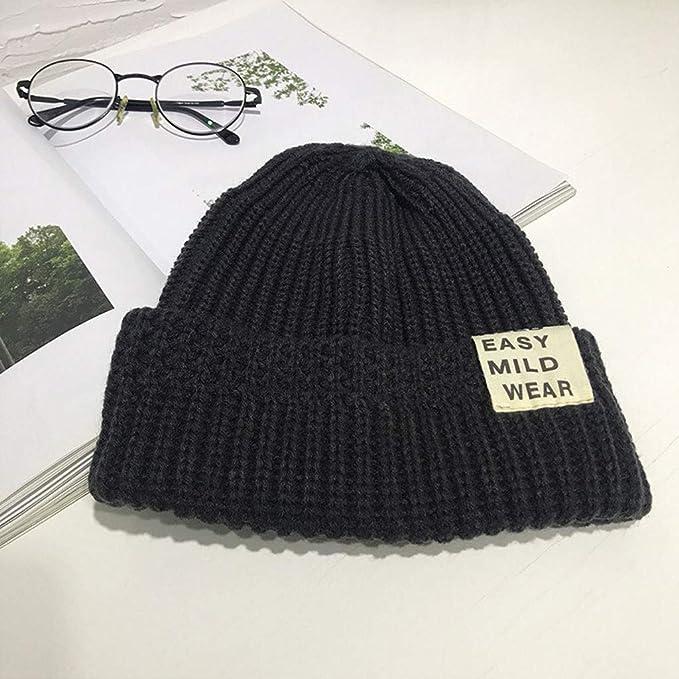 Gorro invierno Sombreros de lana ocasionales hicieron punto los ...