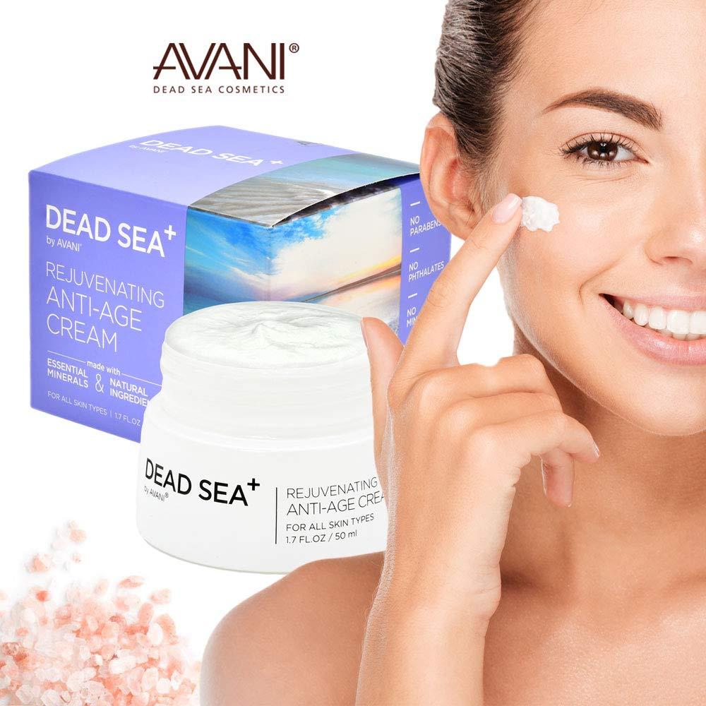 AVANI Dead Sea+ Rejuvenating Anti-Age Cream, Collagen day cream anti aging, All Natural plant extracts and vitamins, 1.7 fl. oz. / 50m