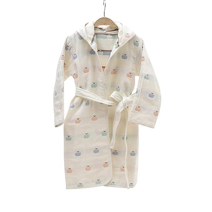 Amazon.com: 100% algodón niños y niñas con capucha albornoz ...