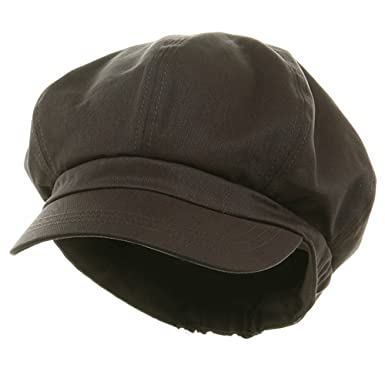 c837226f Big Size Cotton Newsboy Hat - Charcoal (for Big Head) at Amazon ...