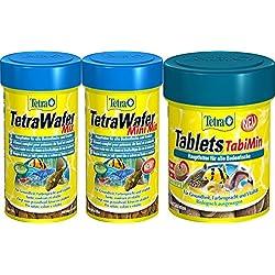 Tetra Tablets pleco bottom fish TabiMin Suckermouth catfish Benthic fish small bottom fish food canister feeder aquarium