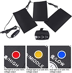 Heating Pads, 5V 2A 8.5W Lightweight Electric USB Heating Heated Pads Set for Outdoor Winter Camping£¨Power Bank Not Included)