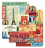 Cavallini Mini Notebooks Paris 4 x 5 5, 3 Mini Notebooks